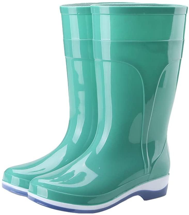 Women's Middle Tube Rain Boots Non-Slip Soft Rain Boots Garden Shoes Non-Slip (Color : Turquoise, Size : 41)