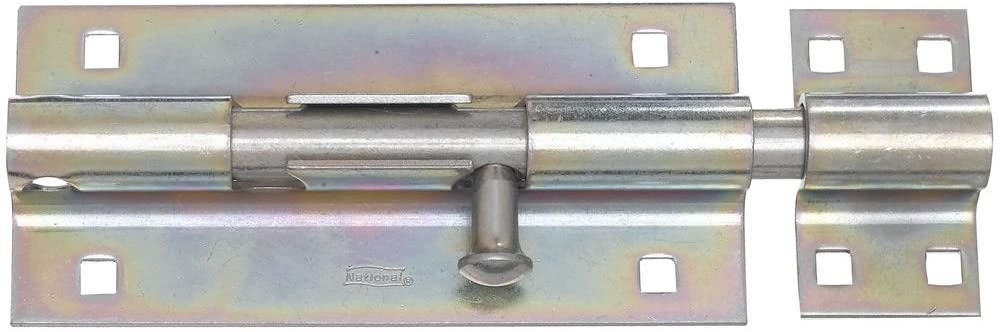 National Hardware N151-167 V832 Extra Heavy Barrel Bolt in Zinc plated