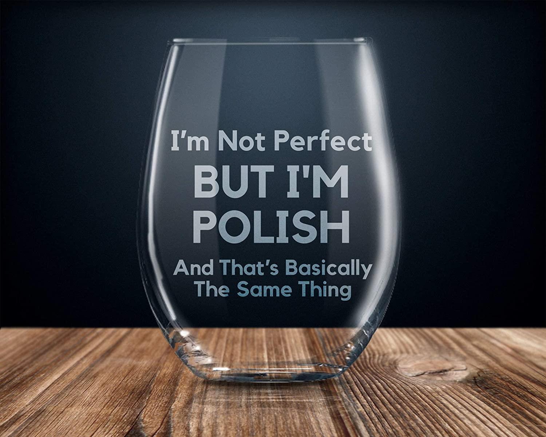 Polish gift gift for Polish Polish pride Polish flag Polish wine glass proud Polish i love Poland Polish gifts funny Polish gift