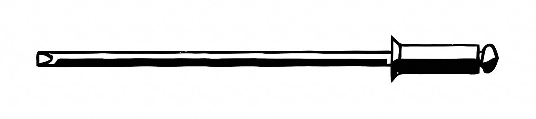Blind Rivet, 3/16Inx0.437In, Ctrsk, PK250