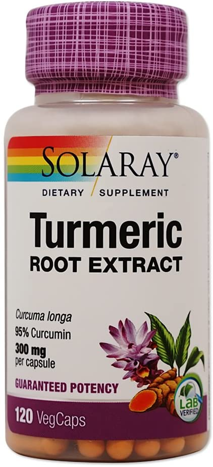 Turmeric Root Extract 300mg Solaray 120 VCaps