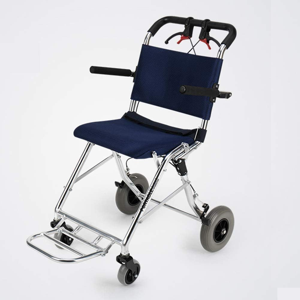 wheelchair Medical Rehab Chair, Wheelchair,Wheelchair Driving Medical, Elderly Wheelchair Folding Portable Elderly Disabled Ultra Light Travel Children Wheelchair Trolley Small