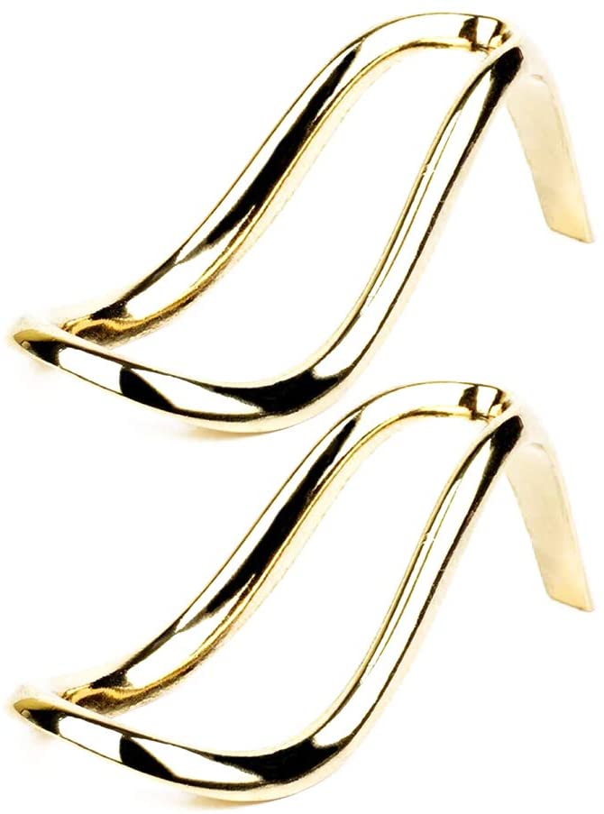 Ouken Tobacco Pipe Display Stand 2Pcs Gold High Heel Stainless Steel Tobacco Pipe Bracket