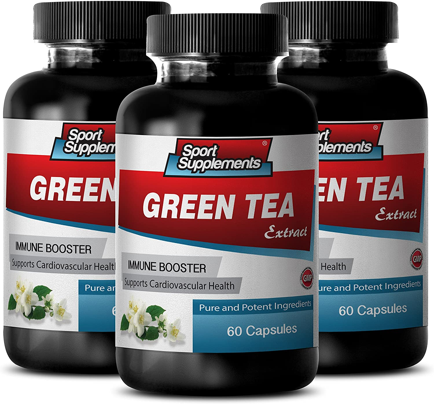 Fat Burner Pills for Men Fast Results - Green Tea Extract (Natural ANTIOXIDANT) 300Mg - Green Tea Fat Burner Dietary Supplement - 3 Bottles 180 Capsules