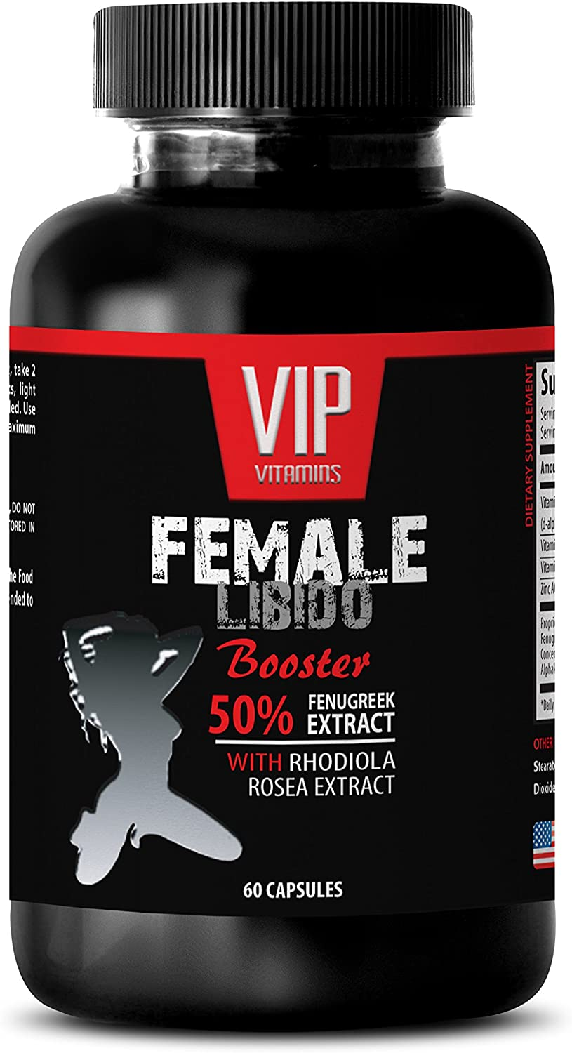 Increase libido for Women - Female LIBIDO Booster - Fenugreek Extract Testosterone- 1 Bottle 60 Capsules