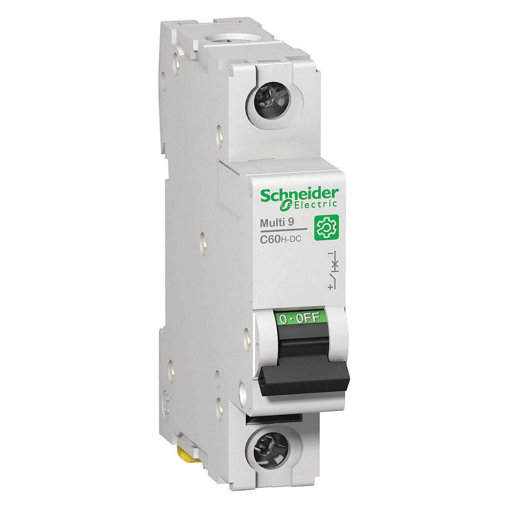 SCHNEIDER ELECTRIC, M9U21120, Thermal Magnetic Circuit Breaker, C Curve, Multi 9 C60H-DC Series, 20 A, 1 Pole, 250 V, DIN Rail