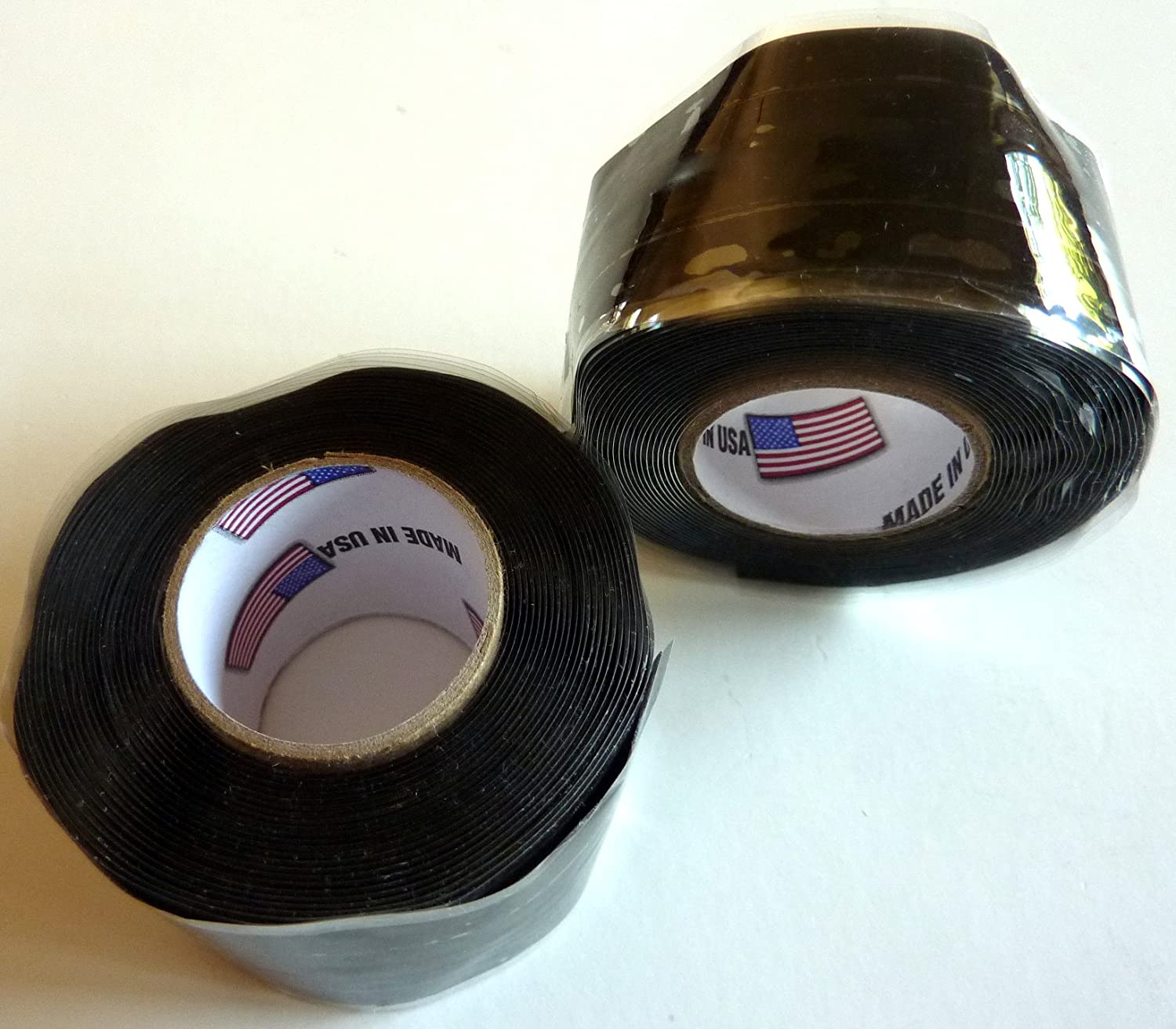 2X Philmore Self-Fusing Black Silicone Rubber Emergency Repair Tape Seals Insulates Waterproofs, 1 x 10ft