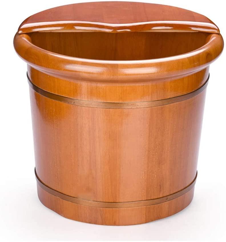 HTLLT Foot Massage Barrel Sauna Wooden Bucket,Spa, Sauna,Soak Footbath Basin,Handmade Massage Bucket Foot Bath,Foot Spa Wash Bucket Feet Bath Basin Tub