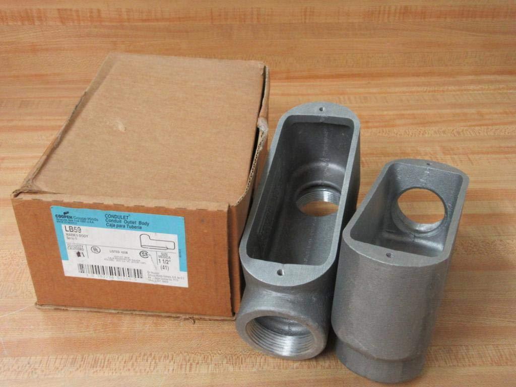 Crouse & Hinds LB59 Conduit Body Type LB Size 1 1/2