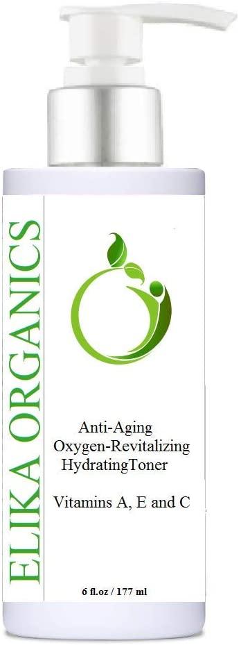ELIKA ORGANICS, Anti-Aging Oxygen-Revitalizing Vitamins A, E and C, Hydrating Toner, 6 oz