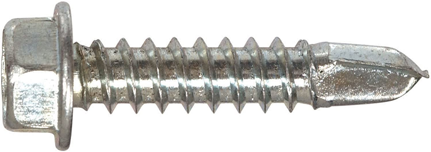The Hillman Group 47222 12-14 x 2-Inch Hex Washer Head Self Drilling Screw