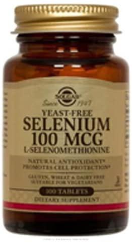 Solgar Yeast-Free Selenium 100 mcg 100 Tabs (Pack of 3)