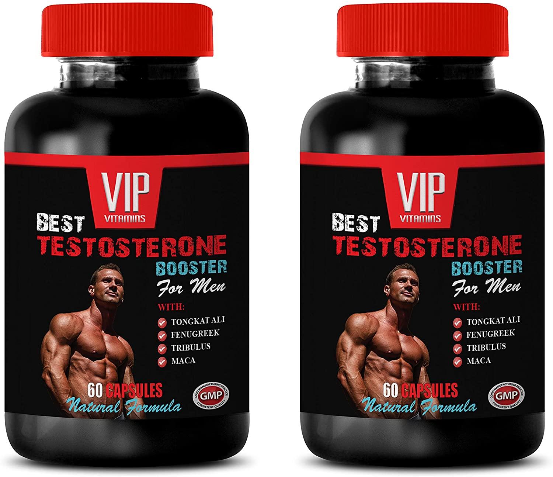 Male Enhancing Pills Erection Best Seller - Best Testosterone Booster - for Men - Natural Formula - tribulus and tongkat - 2 Bottles (120 Capsules)