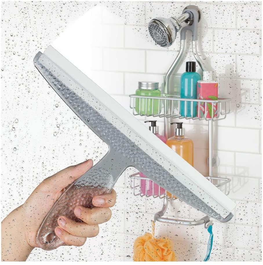 Bathroom Shower Squeegee Clear Acrylic Glass Wall Cleaner Bath
