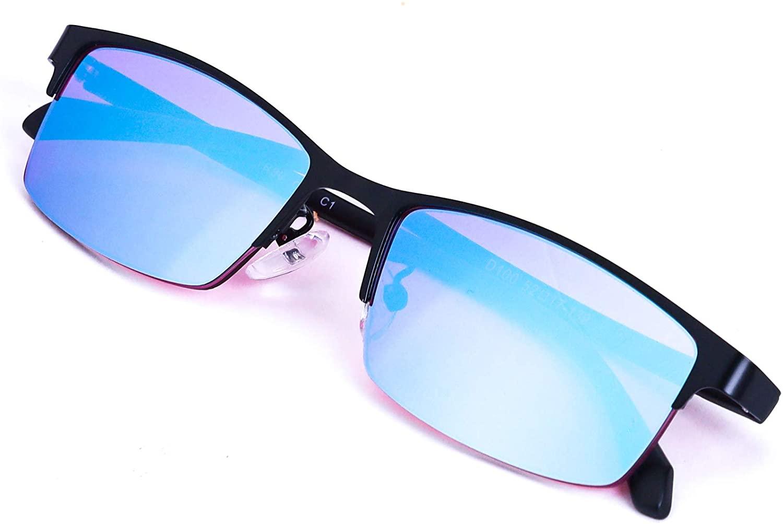 Color Blind Glasses Blue Green Purple Color Blindness Glasses for Men and Women,Halfframe
