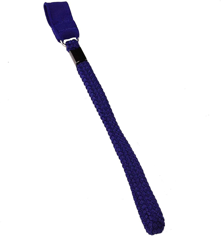 PCP Cane Wrist Strap, Durable Triple Braided Elastic Nylon Lanyard for Canes, Blue