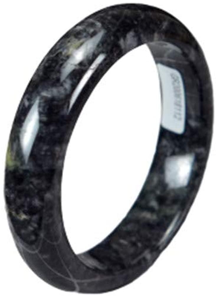AAAjadeshop Natural Jadeite Jade Black Bangle 58mm 200520171