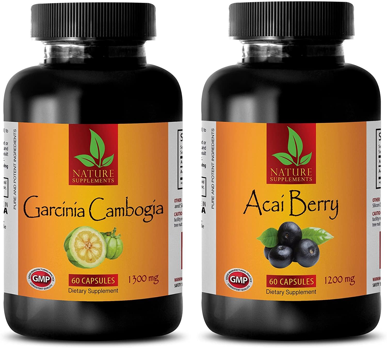 Fat Burner Women Natural Weight Loss - Garcinia CAMBOGIA - ACAI Berry - Combo - Garcinia for her- (2 Bottles Combo)
