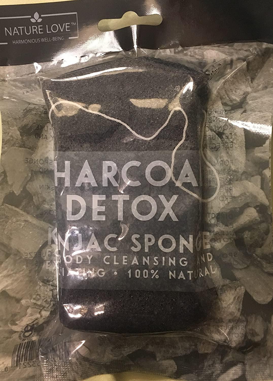 Nature Love Charcoal Detox Konjac Sponge