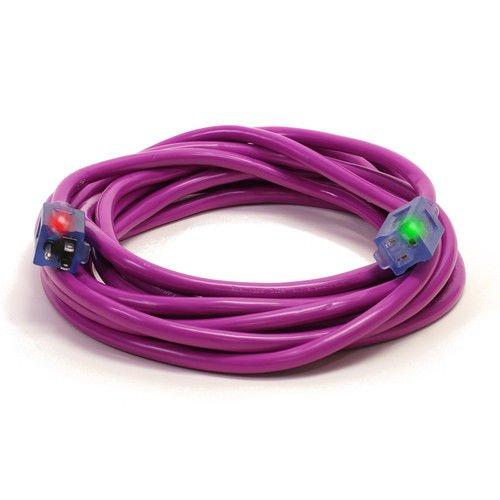 Century D17449025 25' 12/3 SJTW Pro Glo Extension Cord, Purple