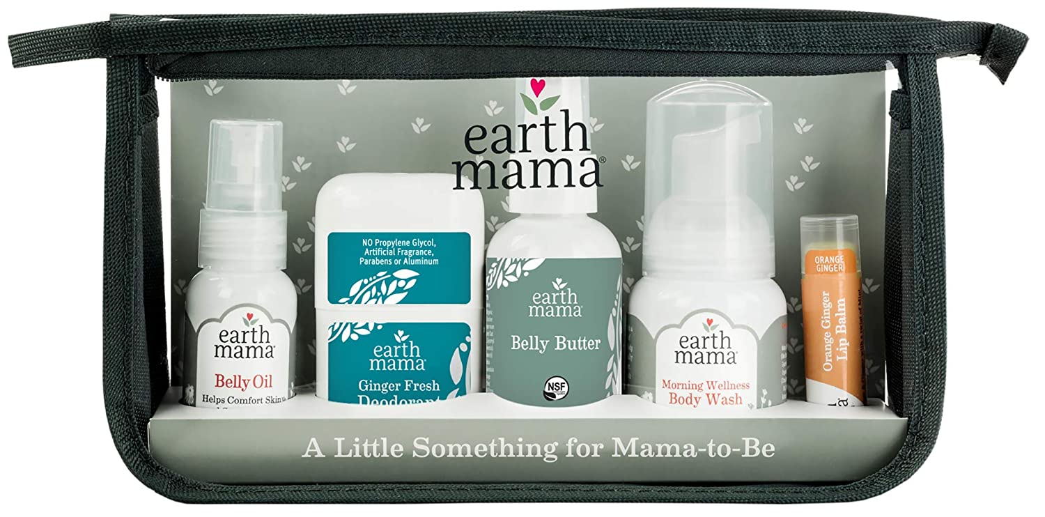 A Little Something for Mama-to-Be Gift Set by Earth Mama   Natural Pregnancy and Maternity Gift for Expectant Mothers, 5-Piece Set