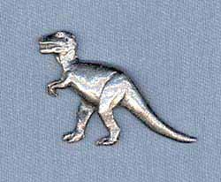 Dinosaur Pewter Lapel Pin Brooch - USA Made - Hand Crafted