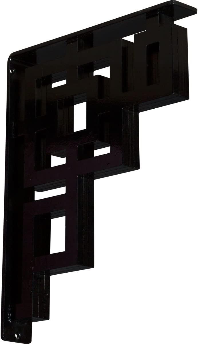 Ekena Millwork BKTM02X12X15TER-CASE-4 Eris, 2W x 12D x 15H, Powder Coated Black, 4 Piece