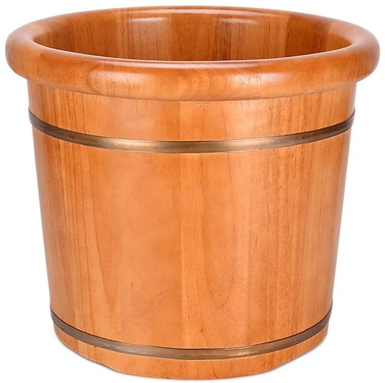 HTLLT Foot Massage Barrel Wooden Foot Basin,Solid Wood Foot Tub, Pedicure Bowl Spa Massage Pedicure Barrels Household Foot Bath Barrel,Massager,B
