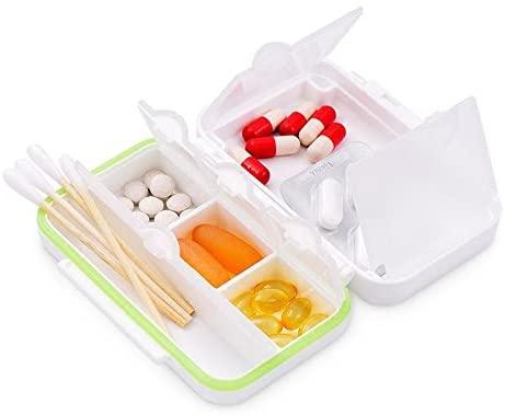 Pill Box - Mini portable small box Portable dispensing box safety PP material good sealing