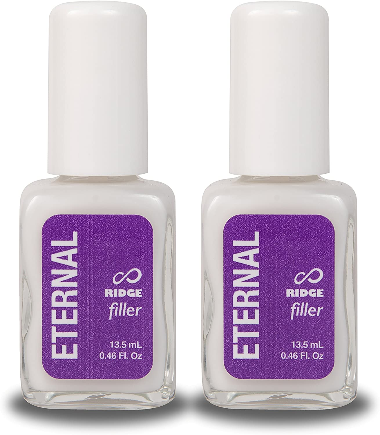 Eternal Ridge Filler Gel – Clear Nail Polish Base Coat and Primer for Smooth Nails - 2 Pack