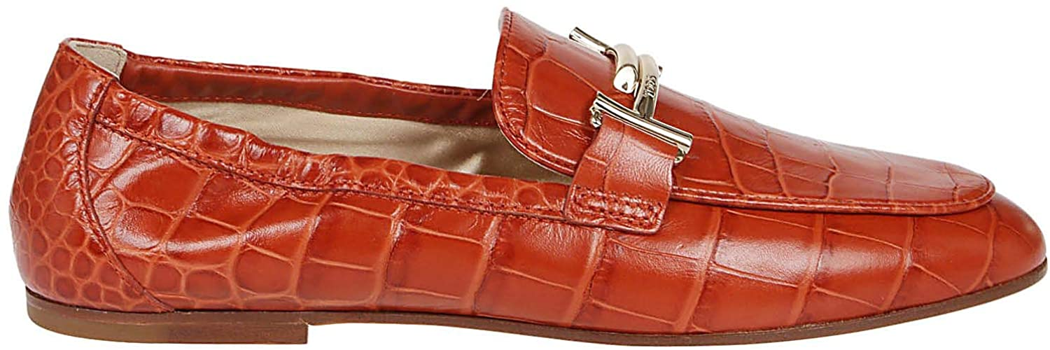 Tod's Luxury Fashion Woman XXW79A0X010WESG828 Red Leather Loafers | Spring Summer 20