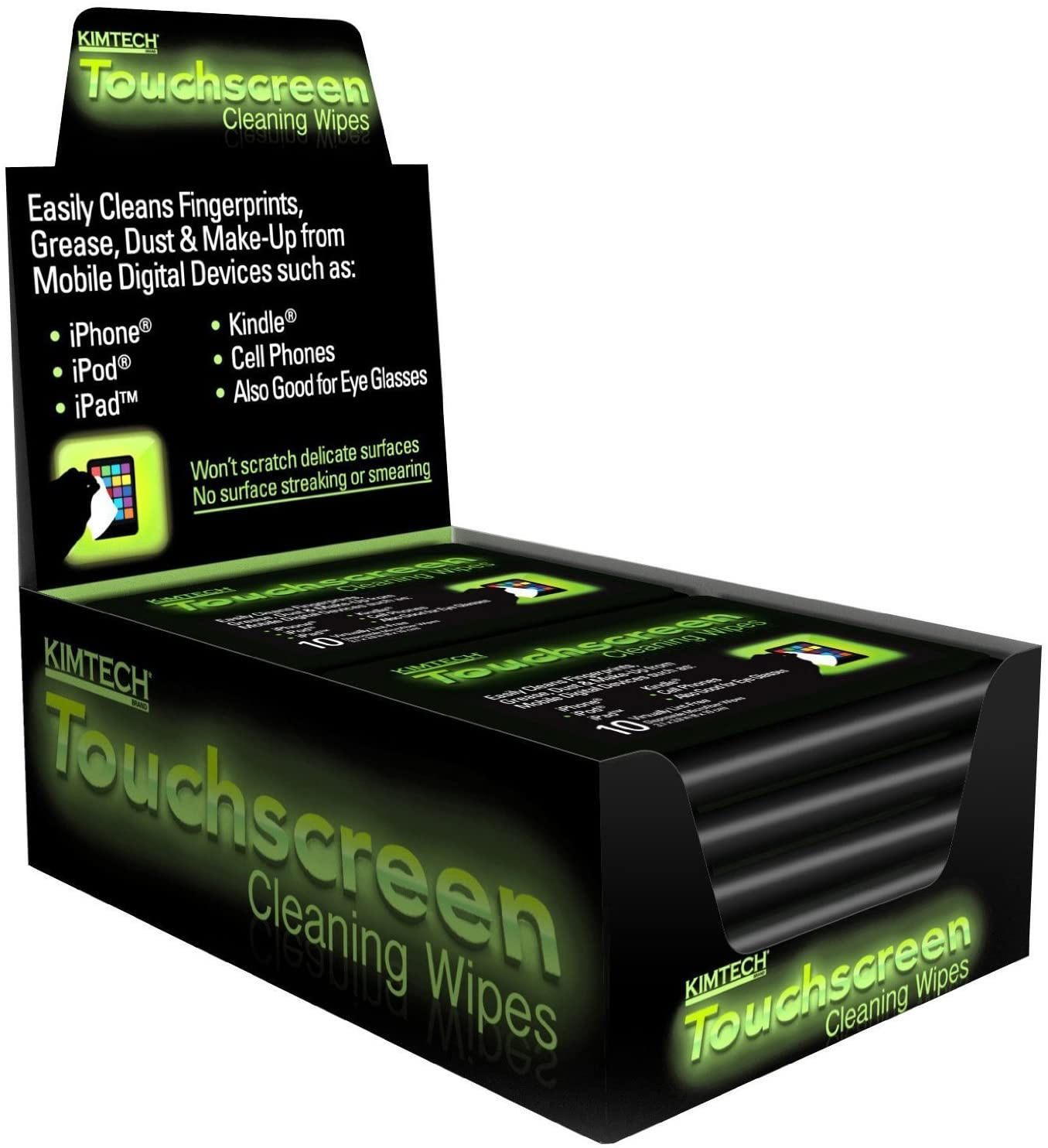 Kimtech Touchscreen Cleaning Wipes, 10 Packs of 10 (Total of 100 Wipes), 3.1 x 3.9 Inch
