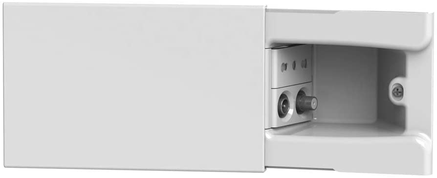 4Box 4b.04.008 Disappearance Socket for Flush-Mounting Box A 4 Full Modules of Socket TV/SAT Socket and Two-Width Socket, White