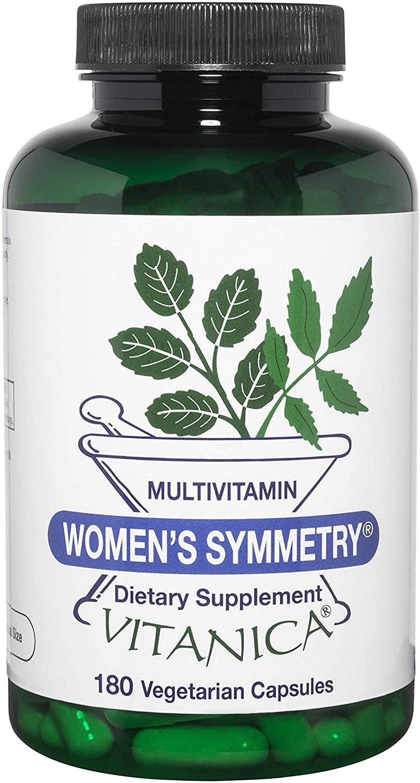 Vitanica Women's Symmetry, High Potency Daily Multivitamin, Vegan/Vegetarian, 180 Capsules