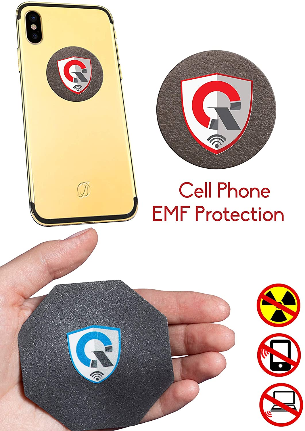 Best EMF Protection Cell Phone : Radiation Protection Tesla Technology EMF Shield WiFi, Laptop-All Devices| Global Awards Anti Radiation Shield, EMF Blocker Neutralizer