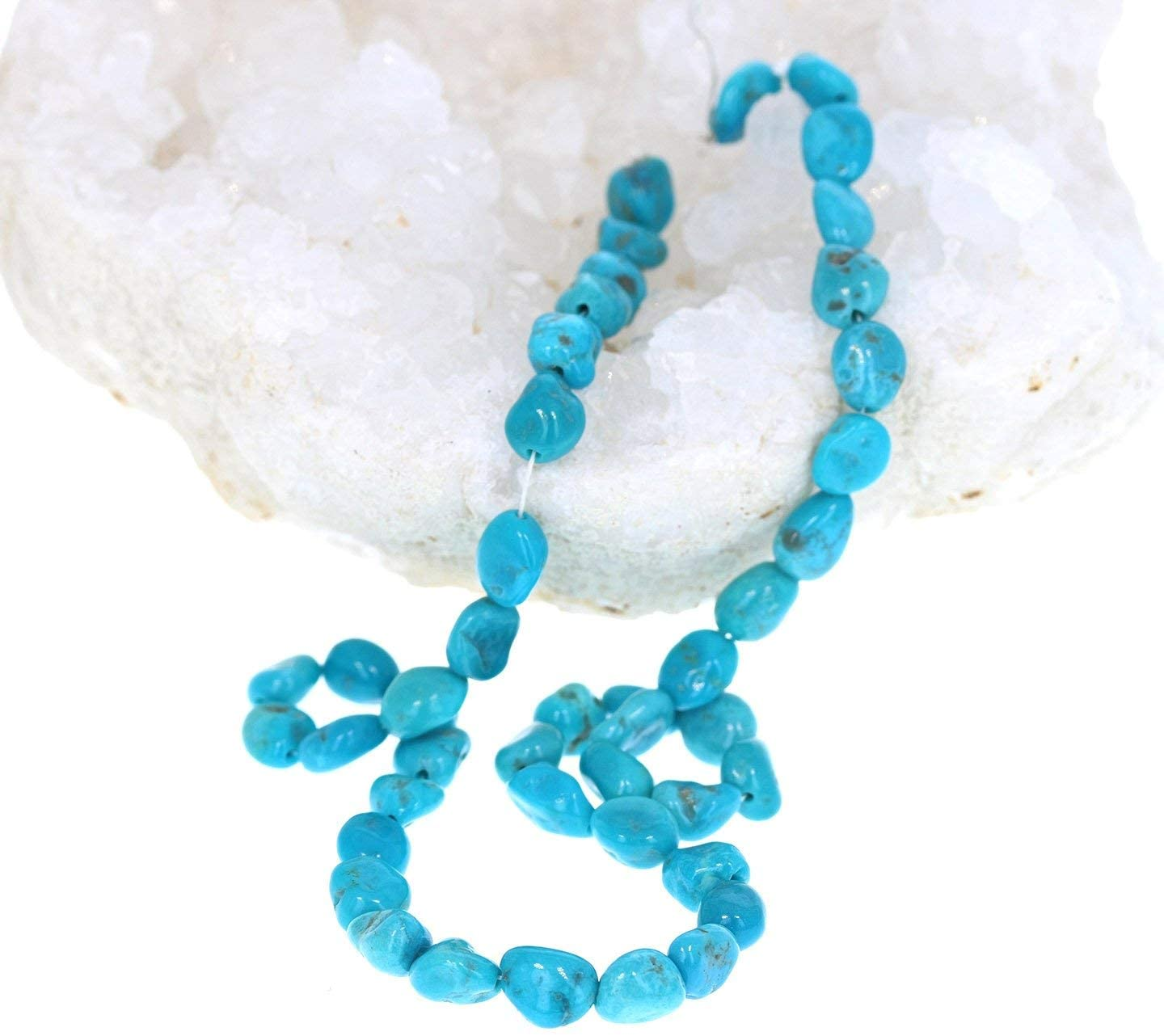 SLEEPING BEAUTY TURQUOISE Beads Potato Shaped 8-9mm