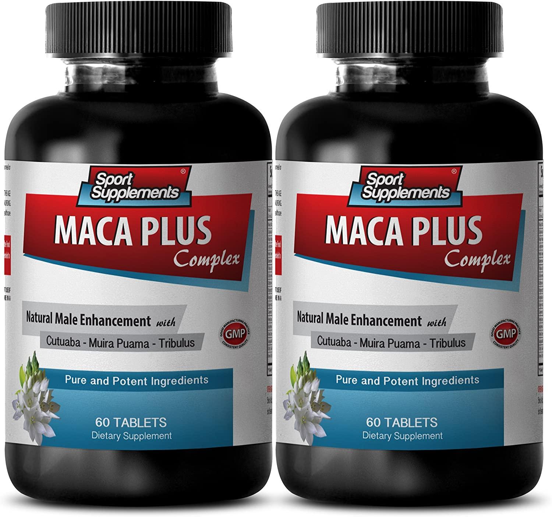Libido Vitamins for Men - MACA Plus Complex - Natural Male Enhancement - Maca Supreme - 2 Bottles 120 Tablets