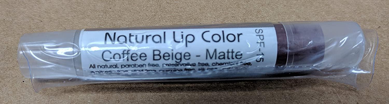 Natural Lip Color by Bella Mari (Coffee Beige Matte, 0.1 Fl Oz Tube) - No Toxic Chemicals