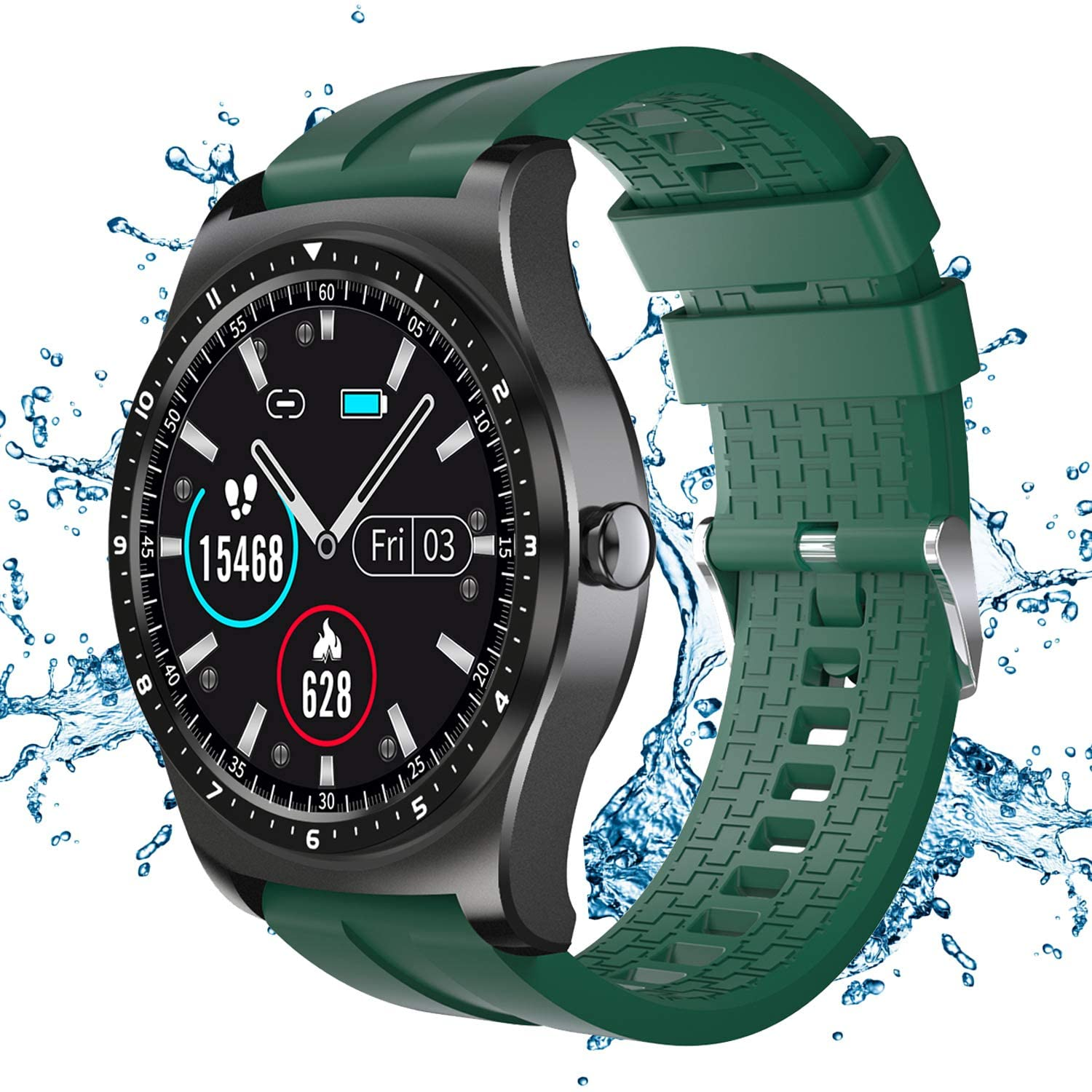 Smart Watch Fitness Tracker Compatible with Android & iOS, 1.3