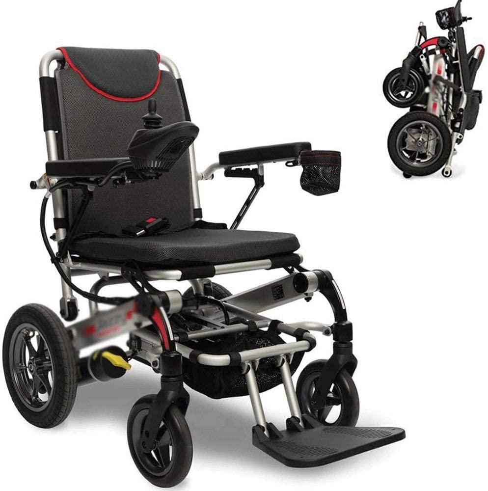HWZLOIK Wheelchair,Electric Wheelchair Intelligent Automatic Folding Lightweight Elderly Scooter Elderly Disabled Lithium Battery