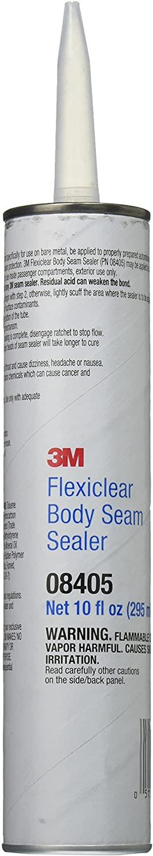 3M Flexiclear Body Seam Sealer, 08405, 1/10 gal cartridge