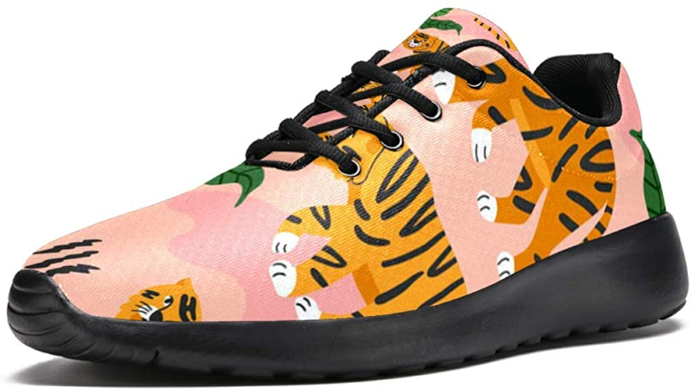 imobaby Sport Running Shoes for Women Walking Tiger in The Jungle Fashion Sneakers Mesh Breathable Walking Hiking Tennis Shoe