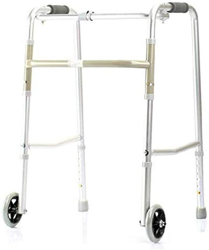 Handrail Walker Elderly Disabled Walking Support Four-Legged Crutches Rehabilitation Aluminum Alloy Double Pulley 59cmx50cmx78cm