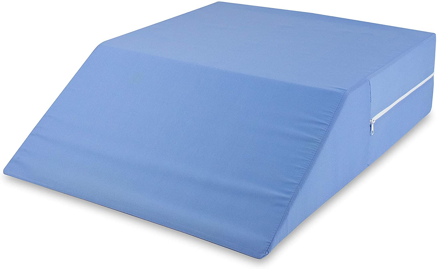"""DMI Ortho Bed Wedge Elevated Leg Pillow, Supportive Foam Wedge Pillow for Elevating Legs, Improved Circulation, Reducing Back Pain, Post Surgery and Injury, Recovery, Blue, 6"""" x 20"""" x 24"""""""