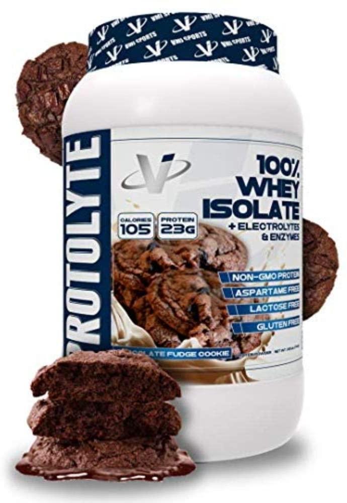 VMI Sports ProtoLyte Whey Isolate Protein Powder, Chocolate Fudge Cookie, 1.63 lbs