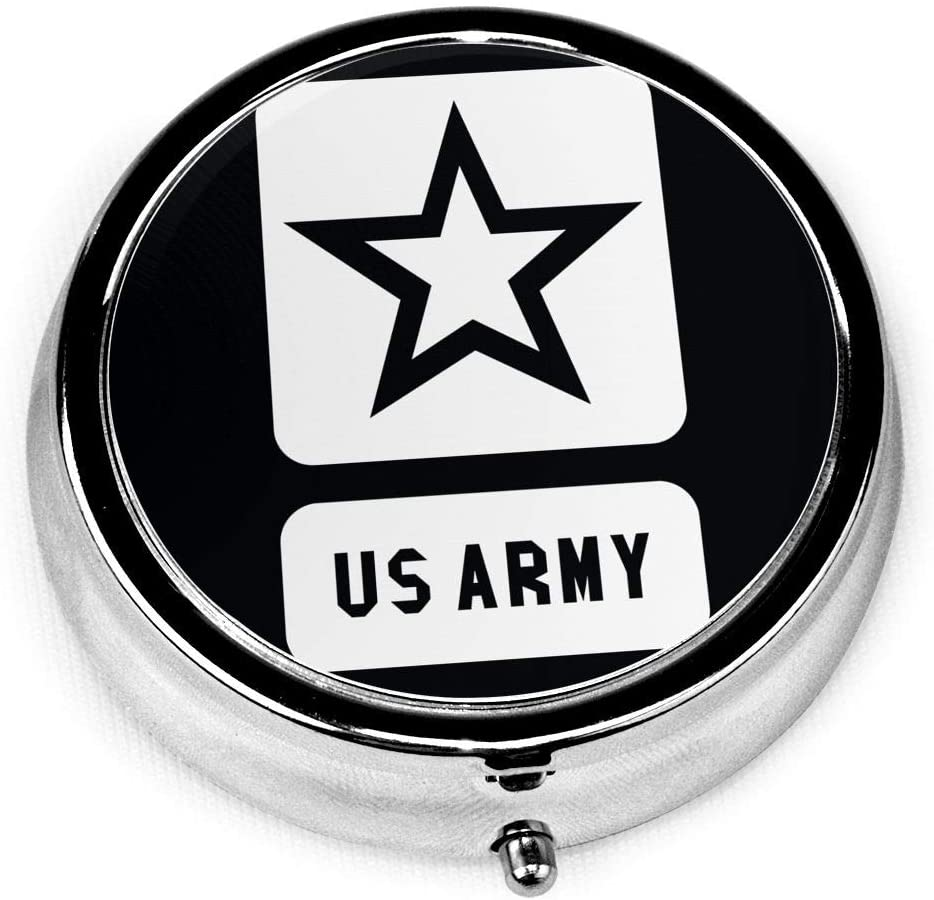 Wehoiweh Us Army 2.0x2.0x0.7 Inch Mini Medicine Box, Full Size Printing is Easy to Carry