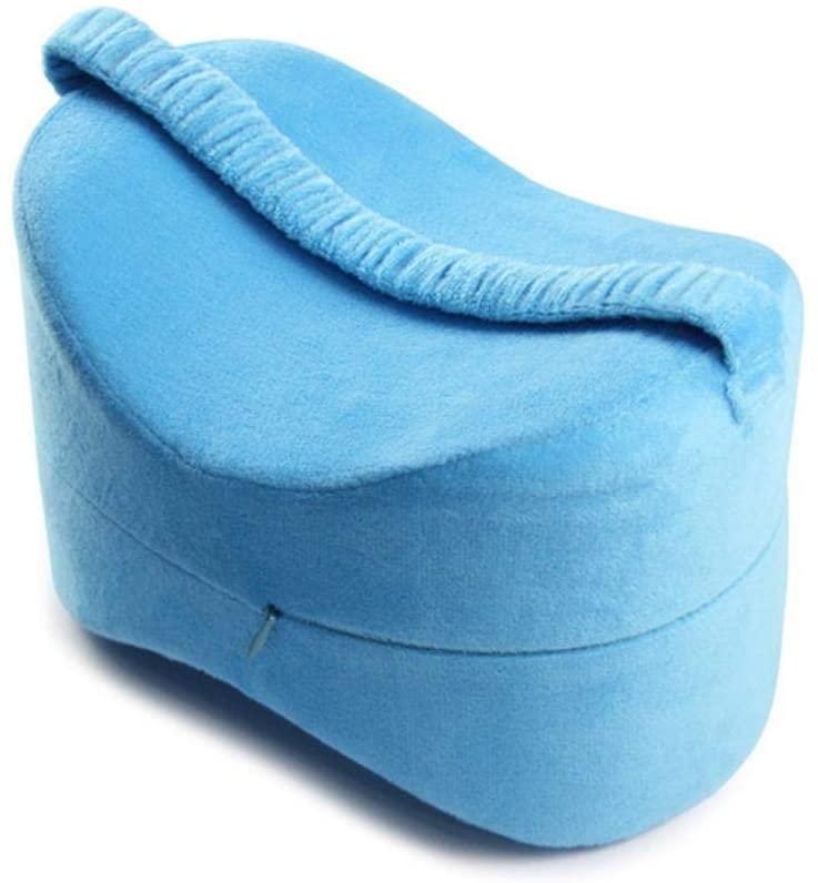 HEEGNPD Leg Positioner Pillows Memory Cotton Knee Pillow for Sleeping Between Legs Positioner Pillows Knee Support Cushion Between Legs,Blue
