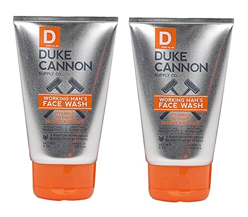 Duke Cannon Working Man's Face Wash for Men, 4 Ounce - Pack of 2