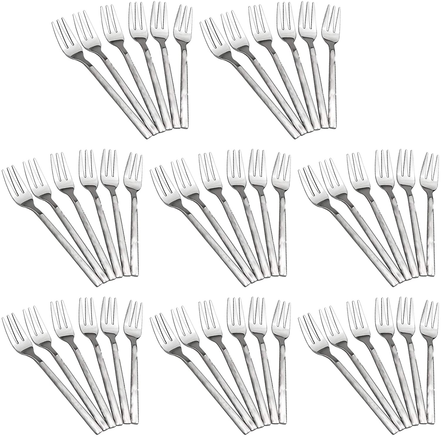 Set of 48 Appetizer Forks - 3 Tong 4.5