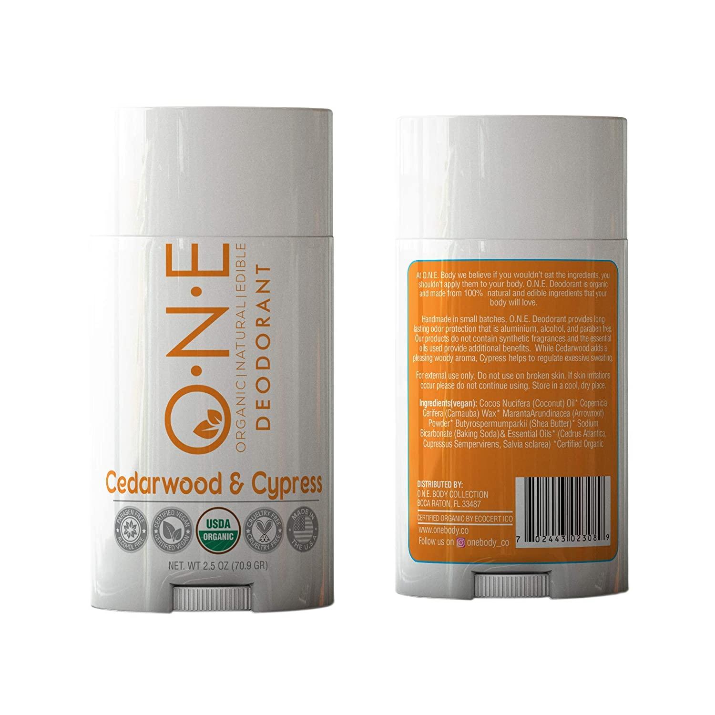 O.N.E. - Cedarwood & Cypress - Organic Natural Edible Deodorants